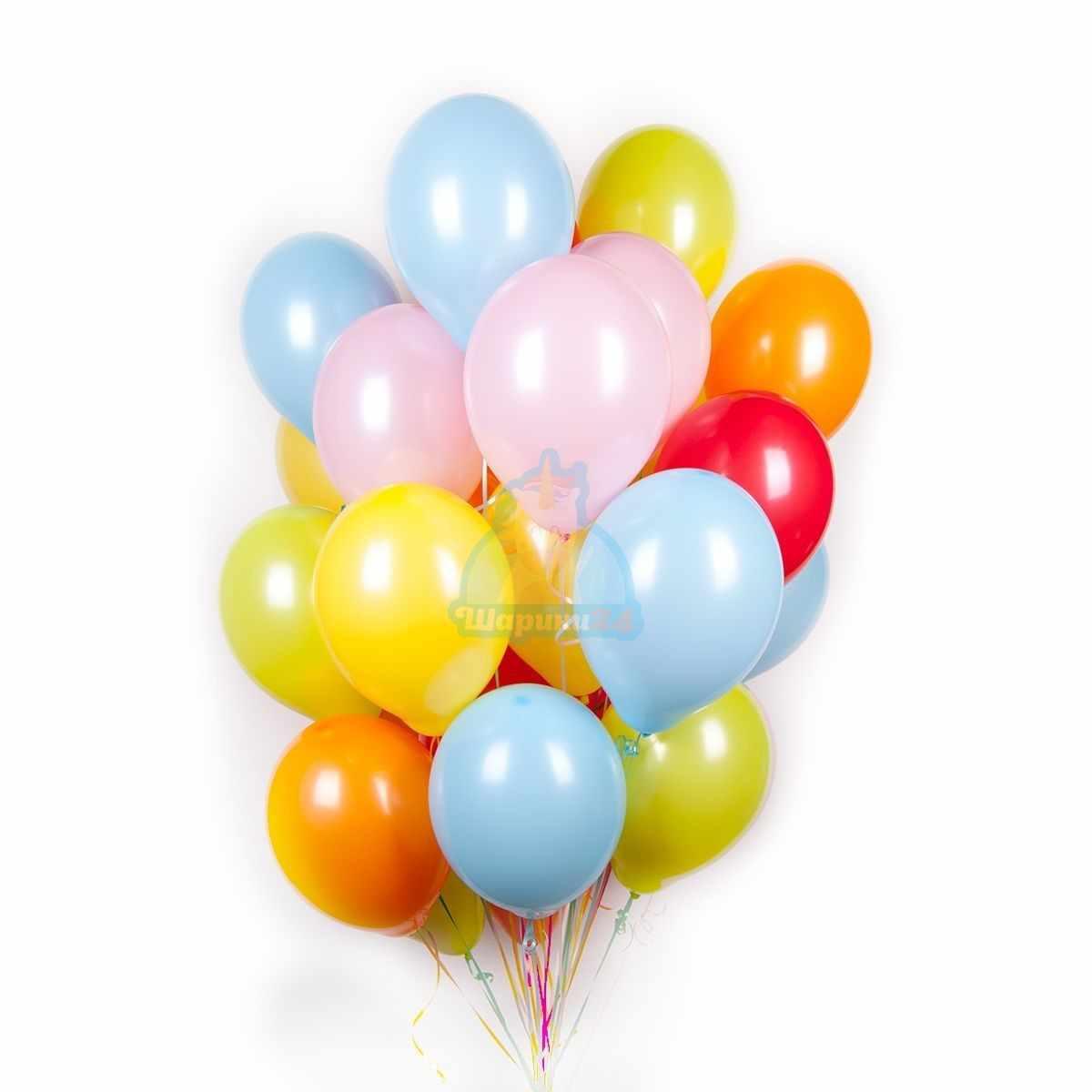 Разноцветные шарики пастель фото в интернет-магазине Шарики 24