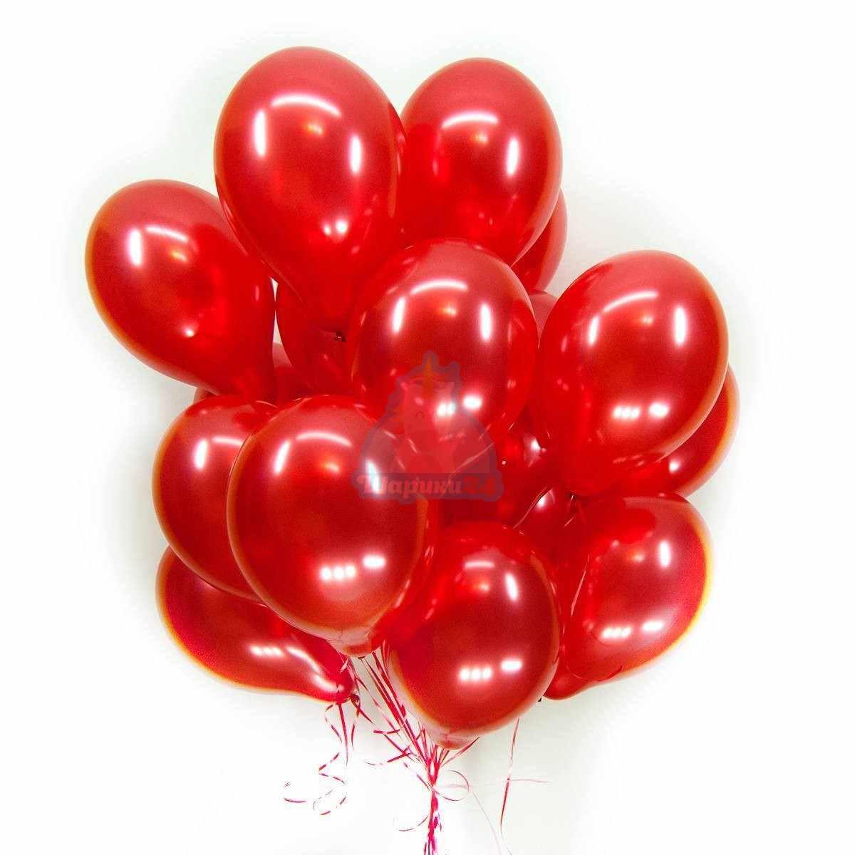 Красные шарики металлик фото в интернет-магазине Шарики 24
