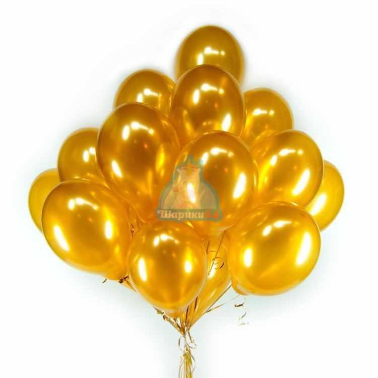 Воздушные шарики золотые