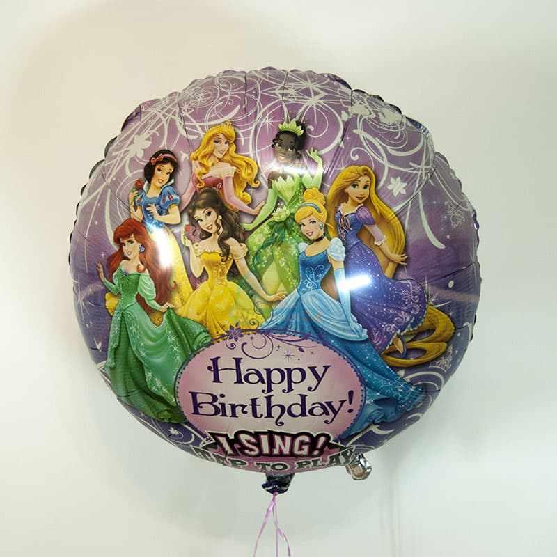 Поющий шар принцессы фото в интернет-магазине Шарики 24
