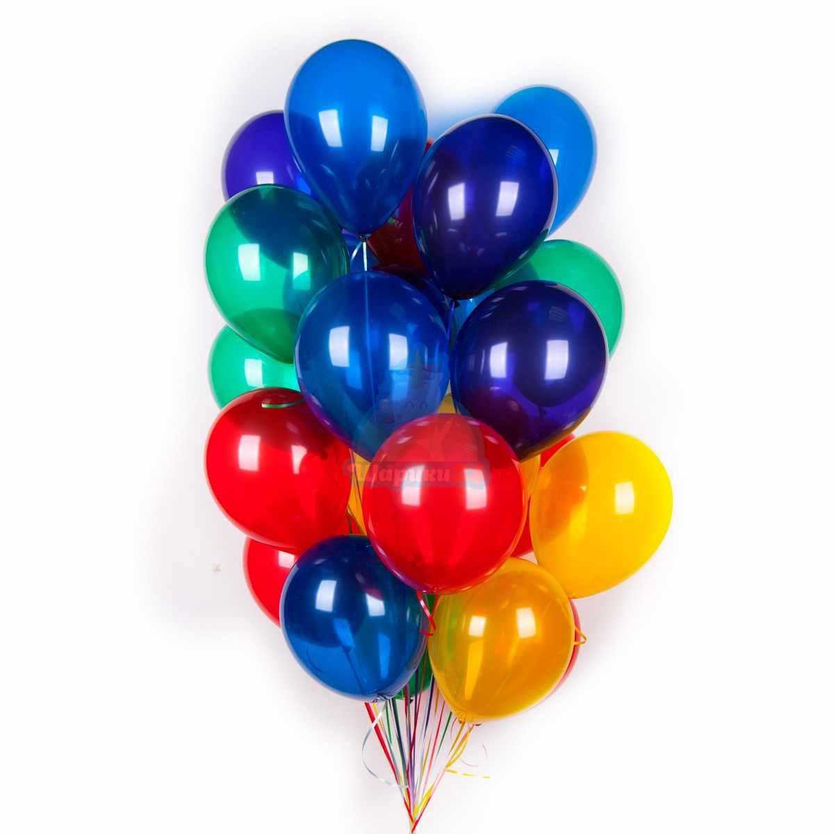 Разноцветные прозрачные шары 100 шт фото в интернет-магазине Шарики 24