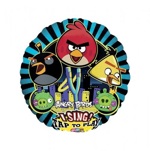 Поющий шар Happy Birthday Angry Birds фото в интернет-магазине Шарики 24