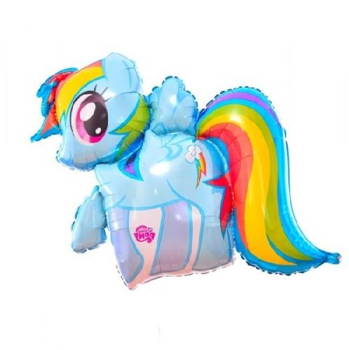 Фольгированный радужный пони фото в интернет-магазине Шарики 24