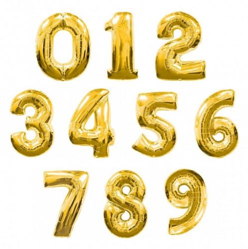 Фольгированные цифры золотые фото в интернет-магазине Шарики 24