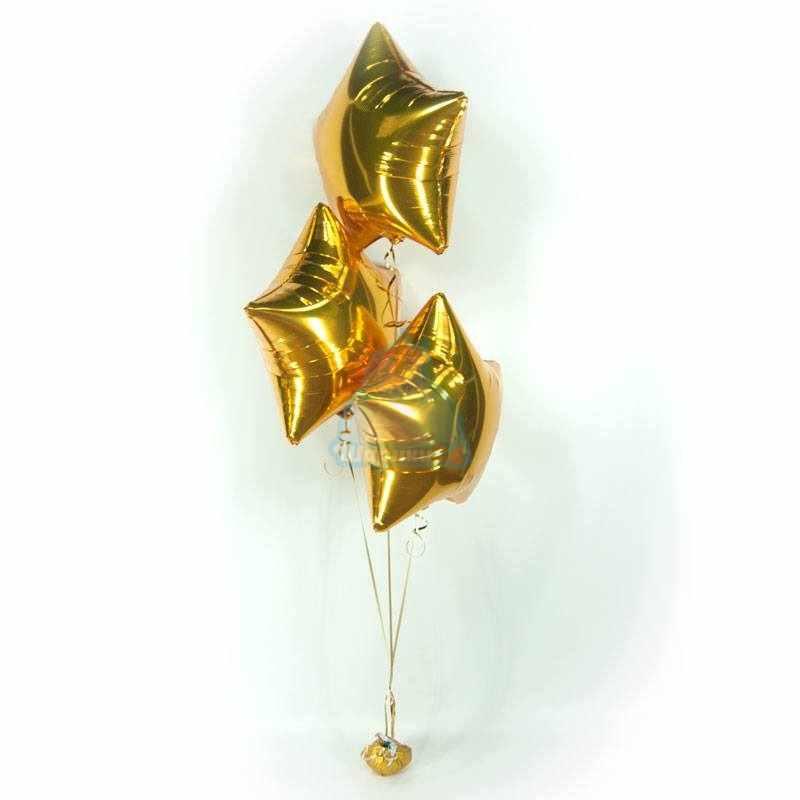 Фольгированные золотые звезды фото в интернет-магазине Шарики 24