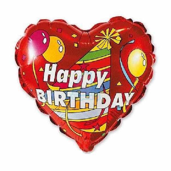 Фольгированное сердце Happy Birthday!