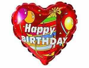 Фольгированный шар Happy Birthday сердце фото в интернет-магазине Шарики 24