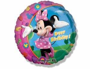 Фольгированный шар Минни Маус фото в интернет-магазине Шарики 24