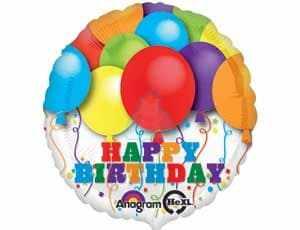 Фольгированный шар С Днем Рождения ! фото в интернет-магазине Шарики 24