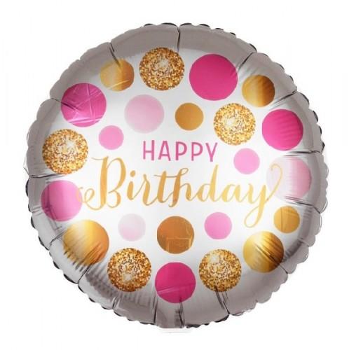 Фольгированный шарик Happy Birthday фото в интернет-магазине Шарики 24