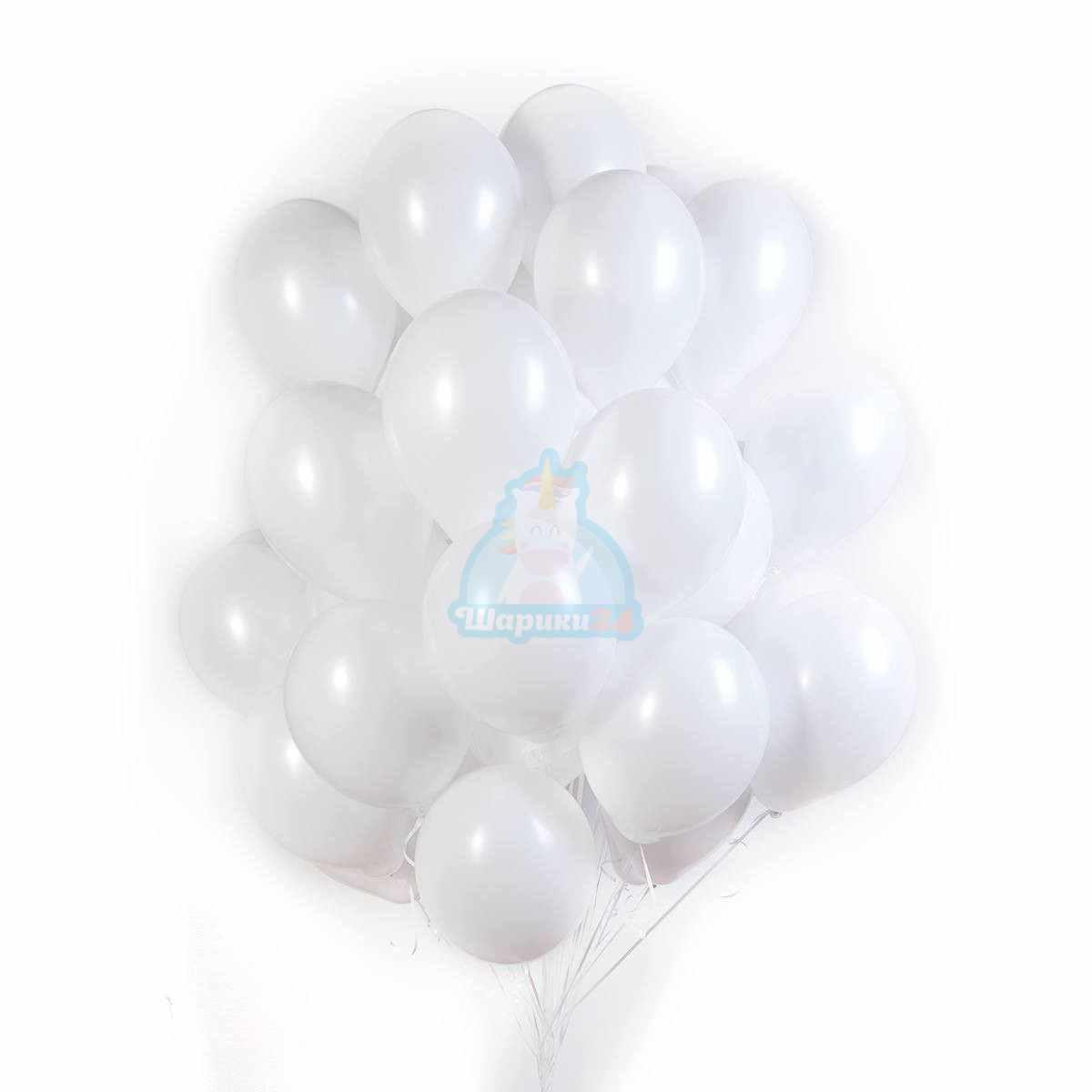 Белые шарики матовые фото в интернет-магазине Шарики 24