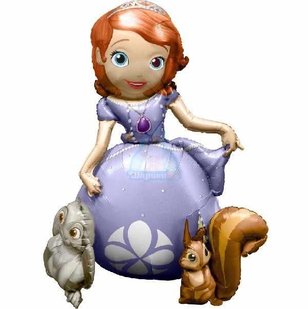 Ходячая фольгированная фигура Принцесса София