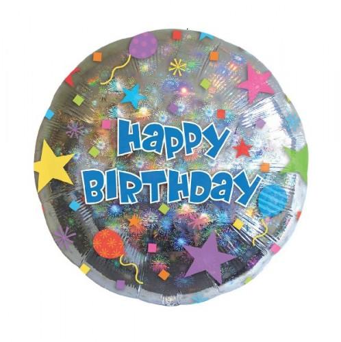 Фольгированный шар с Happy Birthday фото в интернет-магазине Шарики 24