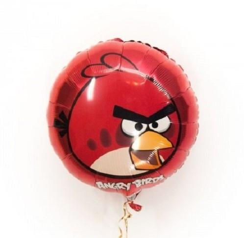 Фольгированный шарик Angry Birds красная птичка фото в интернет-магазине Шарики 24