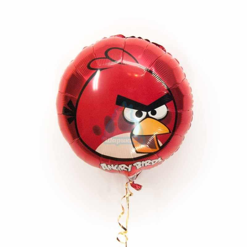 Фольгированный шарик Angry Birds красная птичка