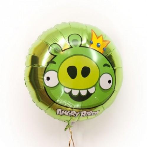 Фольгированный шарик Angry Birds свин фото в интернет-магазине Шарики 24