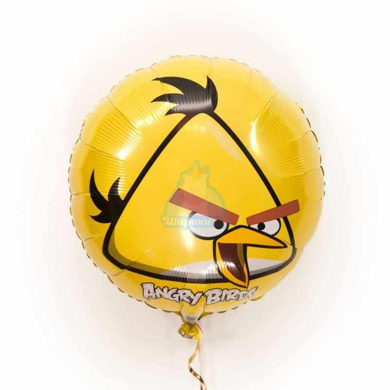 Фольгированный шарик Angry Birds желтая птичка фото в интернет-магазине Шарики 24