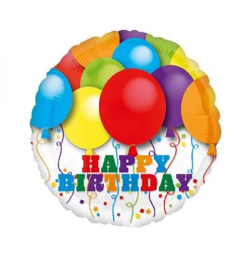 Фольгированный шар С Днем Рождения! фото в интернет-магазине Шарики 24