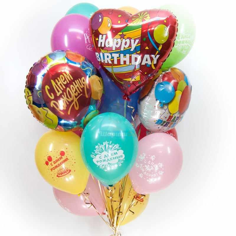 Букет С Днем Рождения фото в интернет-магазине Шарики 24