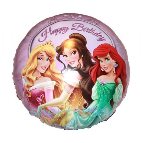 Фольгированный шар Принцессы на балу фото в интернет-магазине Шарики 24