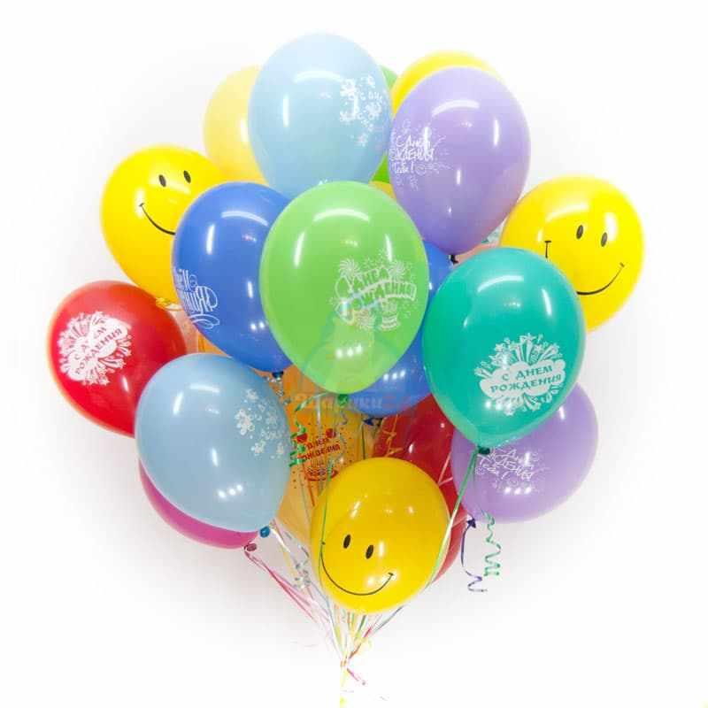 На день Рождения со Смайлами фото в интернет-магазине Шарики 24