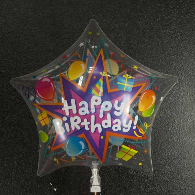 Звезда Happy Birthday фото в интернет-магазине Шарики 24