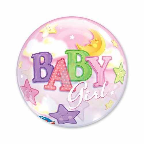 Кристальный шар Bubbles Луна и Звезды Девочка