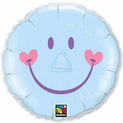 Фольгированный шарик Улыбка с сердечками фото в интернет-магазине Шарики 24