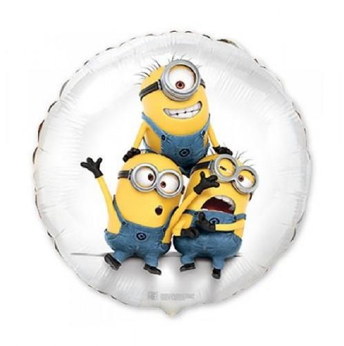 Фольгированный шарик миньоны забавные фото в интернет-магазине Шарики 24