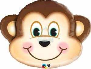 Фольгированный шарик голова мартышки фото в интернет-магазине Шарики 24