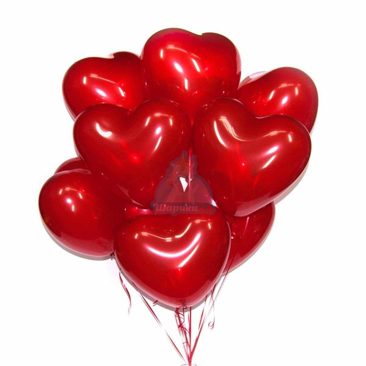 Красные сердца 40 см фото в интернет-магазине Шарики 24