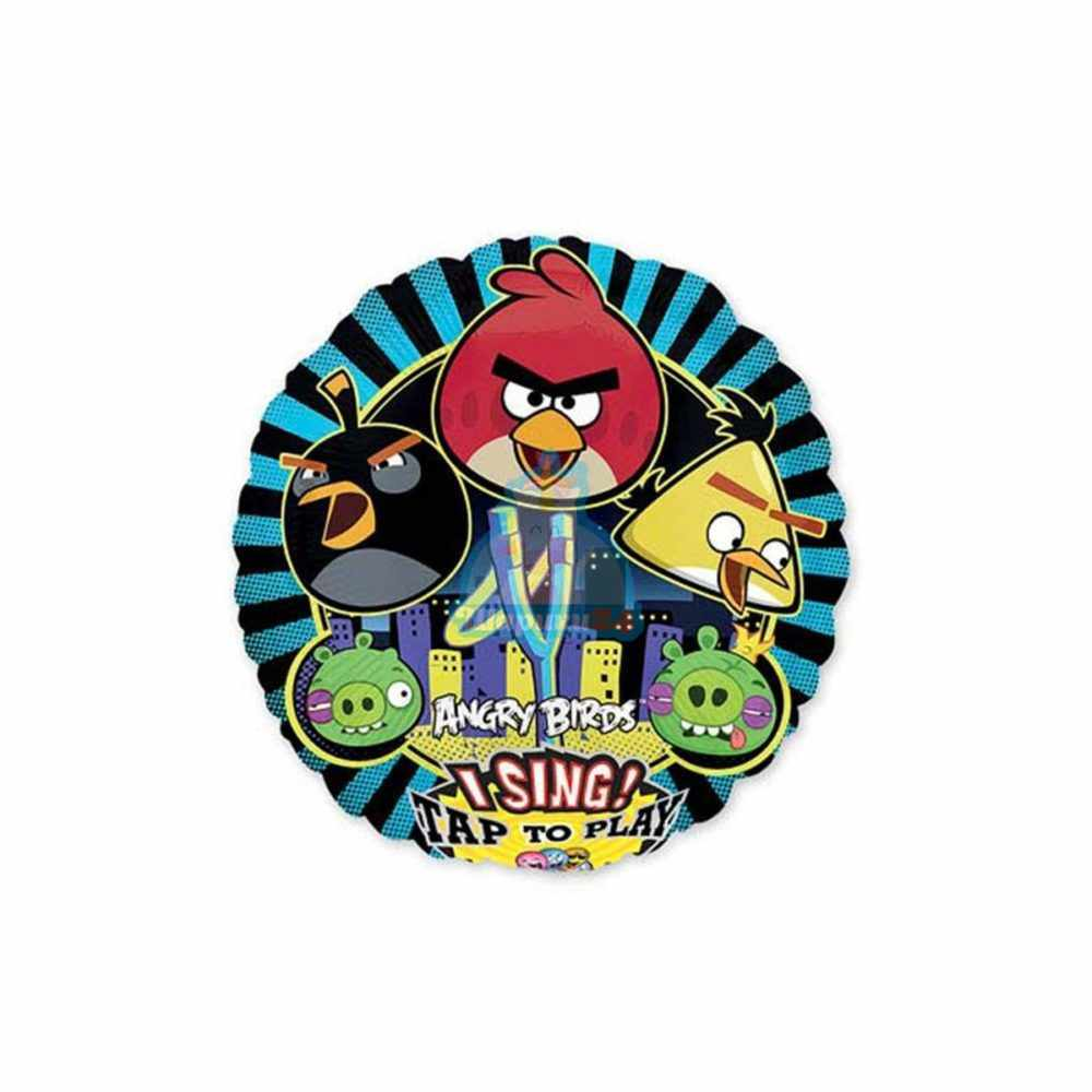 Поющий фольгированный шар Angry Birds