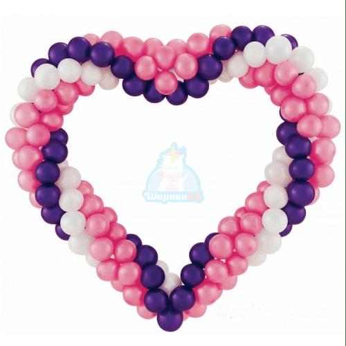 Сердце из шаров 1.5 метра фото в интернет-магазине Шарики 24