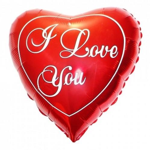 Фольгированное сердце I love you 46см. фото в интернет-магазине Шарики 24