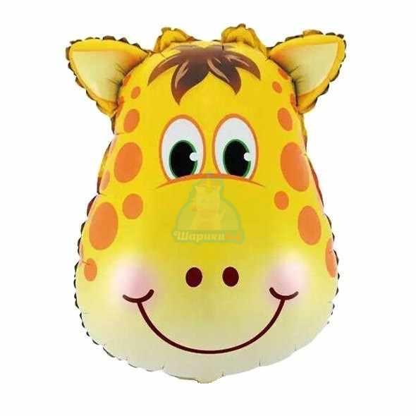Фольгированная фигура голова жирафа