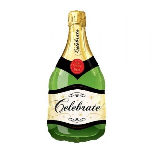 Фольгированный шарик бутылка шампанского фото в интернет-магазине Шарики 24