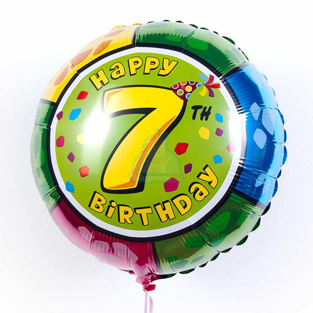 Круглые фольгированные шары с цифрами от 0 до 9 фото в интернет-магазине Шарики 24