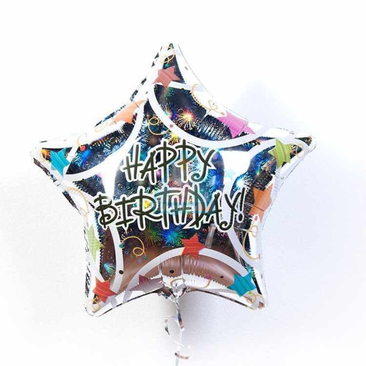 Фольгированная звезда Happy Birthday!
