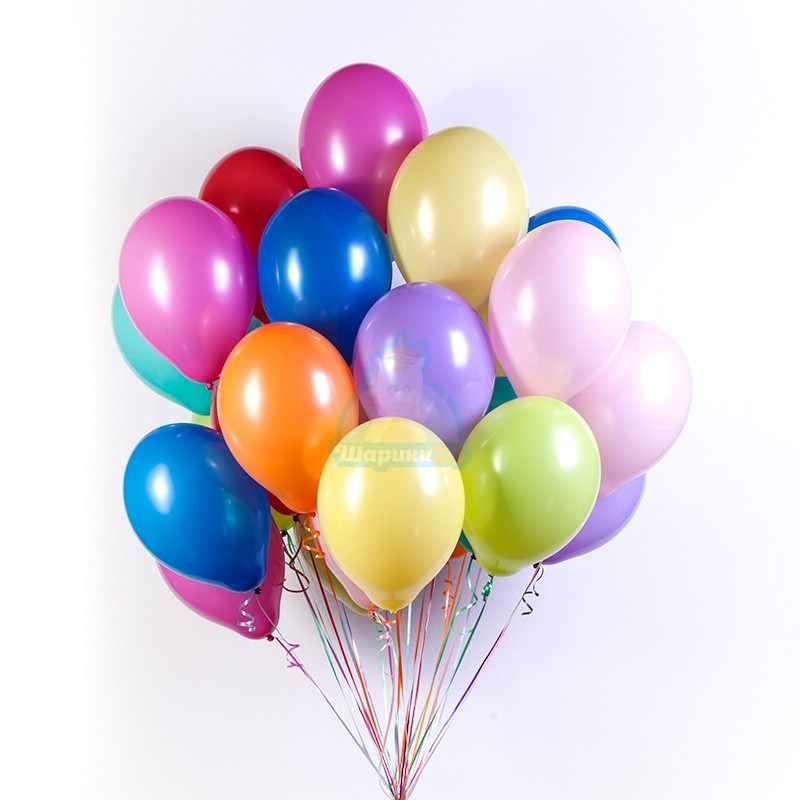Ассорти шаров 10 цветов 50 шт фото в интернет-магазине Шарики 24