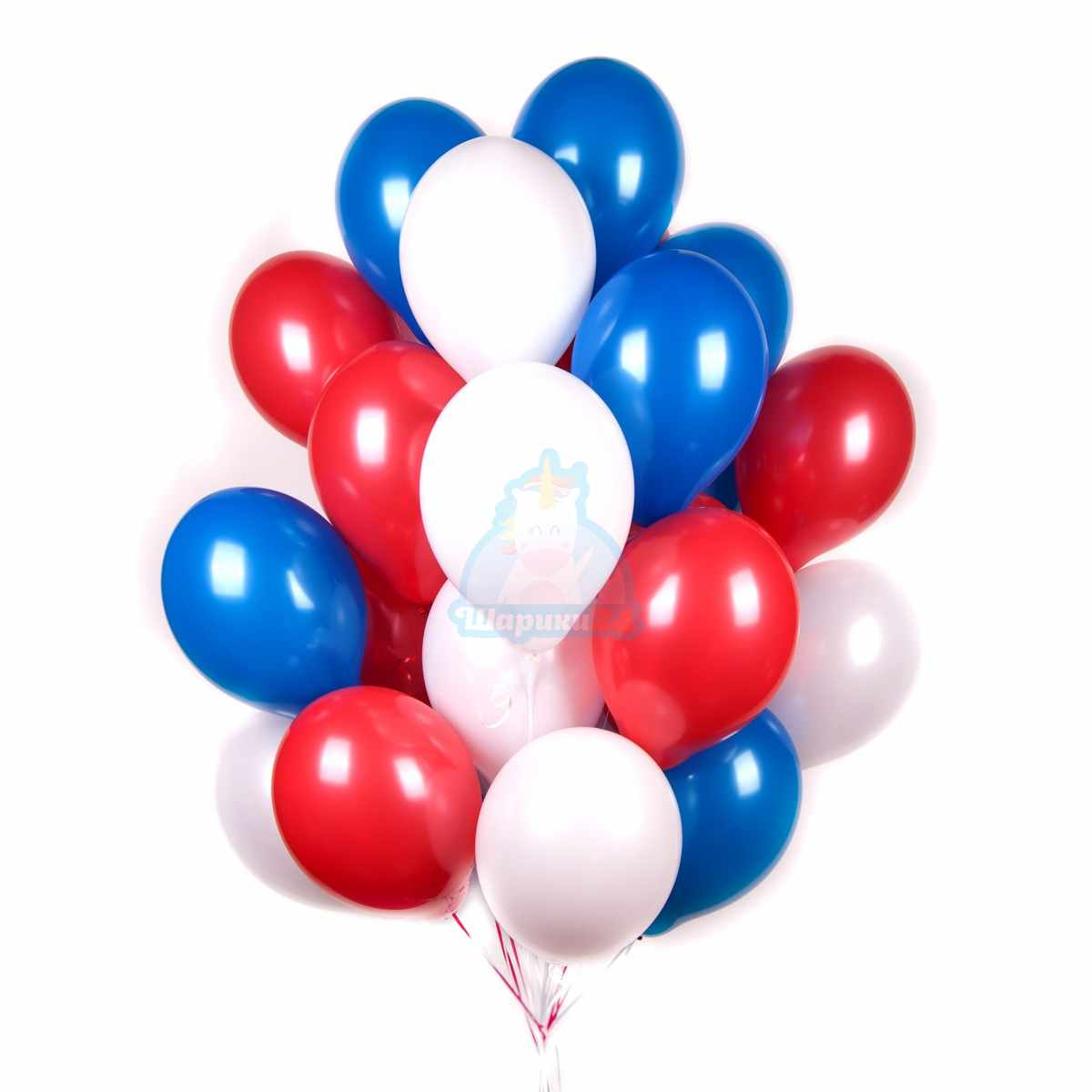 "Облако шариков ""Триколор"" фото в интернет-магазине Шарики 24"