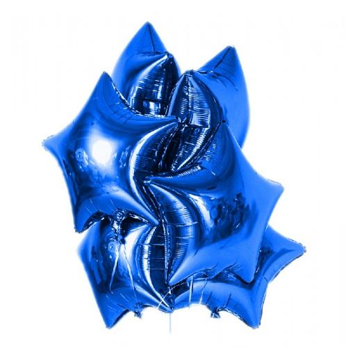 Фольгированные синие звезды фото в интернет-магазине Шарики 24