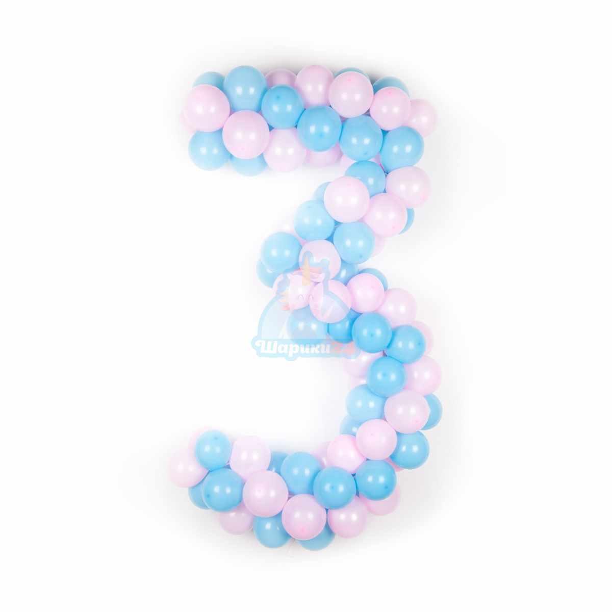 Цифры из шаров фото в интернет-магазине Шарики 24