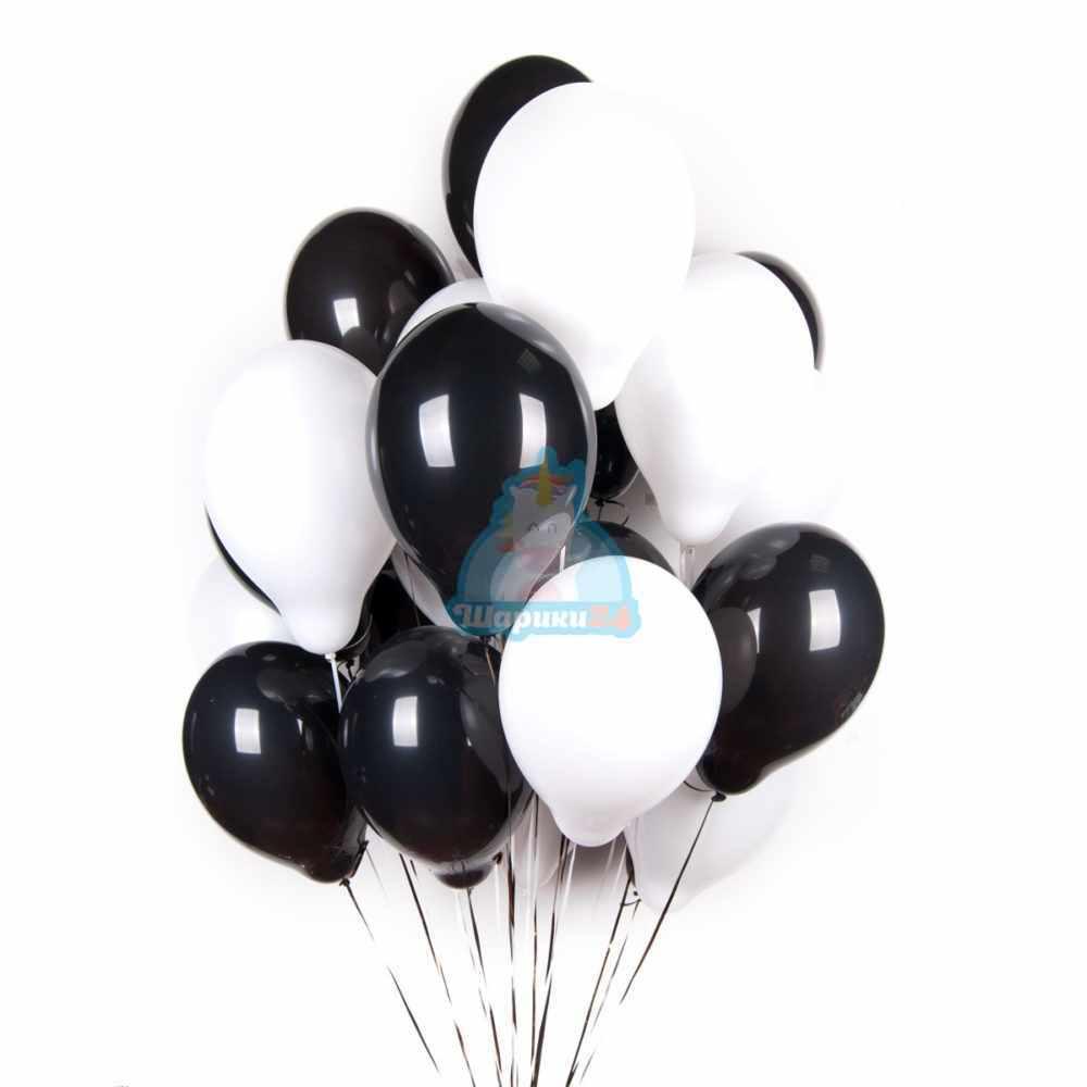 Облако черных и белых шариков