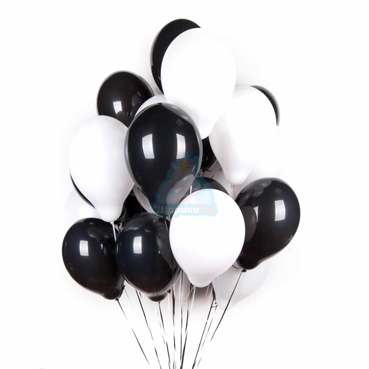 Черные и белые шары фото в интернет-магазине Шарики 24