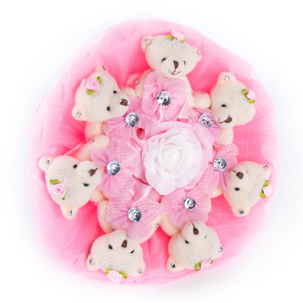 Букет из игрушек (5 медведей) фото в интернет-магазине Шарики 24