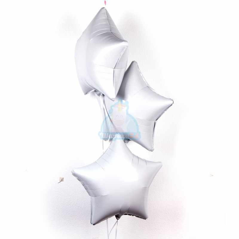 Фольгированные белые звезды фото в интернет-магазине Шарики 24