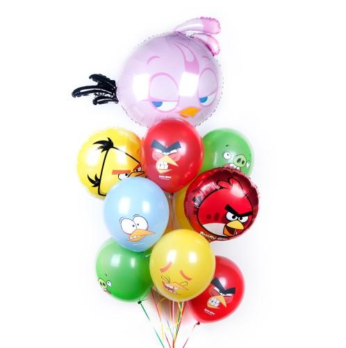 Букет шаров Angry Birds фото в интернет-магазине Шарики 24