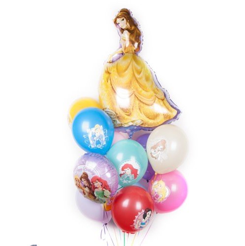 Букет шаров с Принцессами фото в интернет-магазине Шарики 24