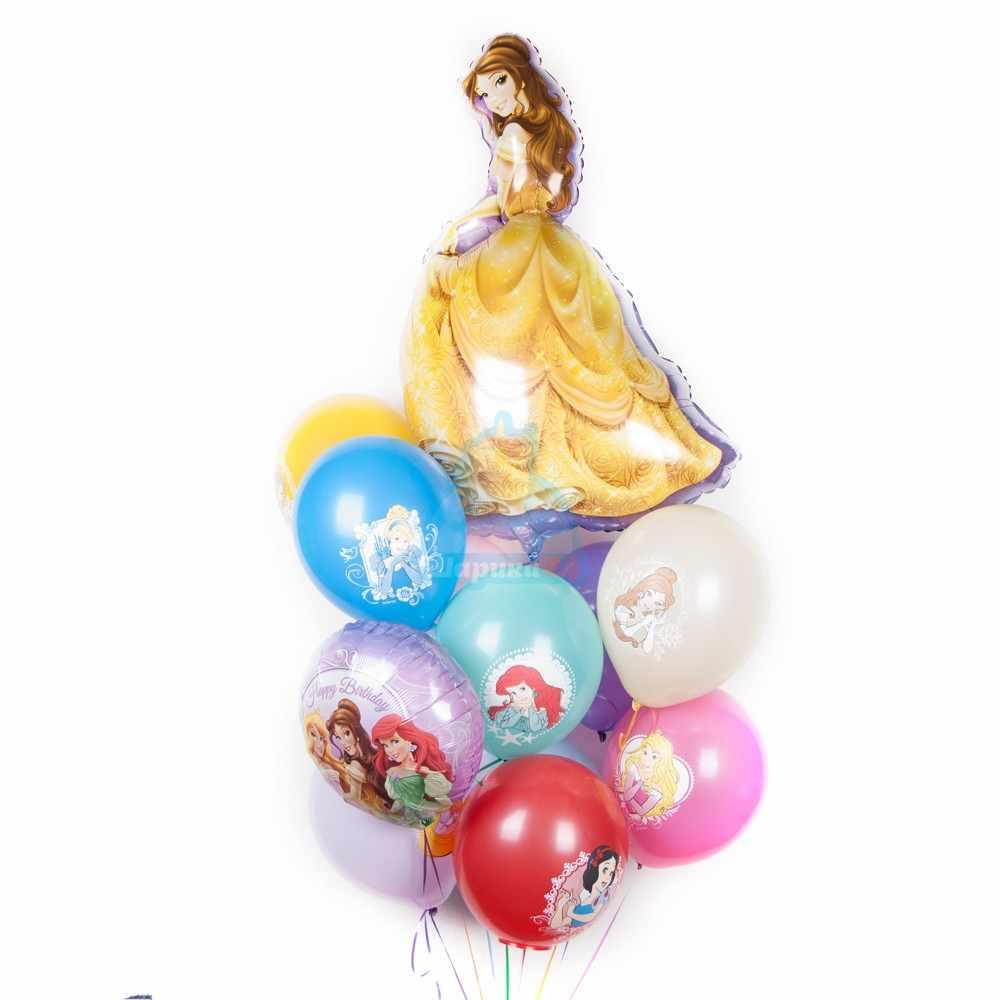Композиция из разноцветных шариков с Принцессами
