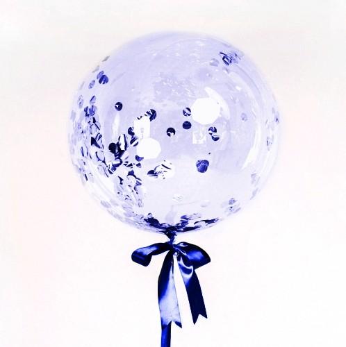 Большой кристальный шар 60см. с конфетти фото в интернет-магазине Шарики 24